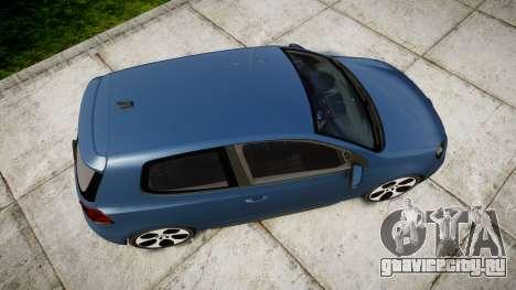 Volkswagen Golf GTI 2010 для GTA 4 вид справа