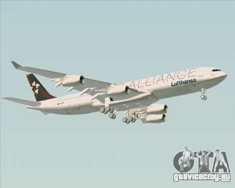 Airbus A340-300 Lufthansa (Star Alliance Livery) для GTA San Andreas вид сверху