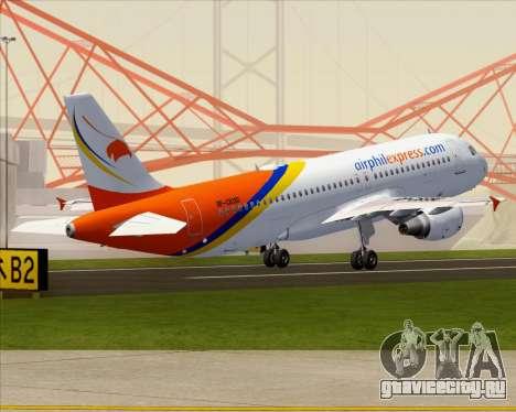 Airbus A320-200 Airphil Express для GTA San Andreas вид снизу