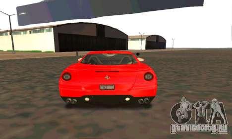 Ferrari 599 Beta v1.1 для GTA San Andreas вид справа