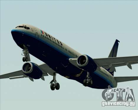 Boeing 737-800 United Airlines для GTA San Andreas вид сверху