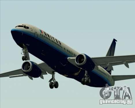 Boeing 737-800 United Airlines для GTA San Andreas вид сверху