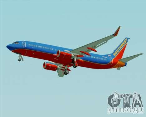 Boeing 737-800 Southwest Airlines для GTA San Andreas колёса