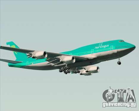 Boeing 747-400 Aer Lingus для GTA San Andreas вид сзади слева