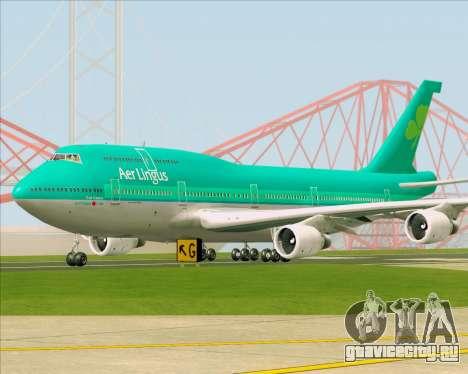 Boeing 747-400 Aer Lingus для GTA San Andreas вид слева