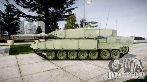 Leopard 2A7 PT Green для GTA 4 вид слева