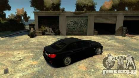 BMW 525 F10 для GTA 4 вид справа