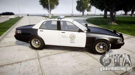 GTA V Vapid Police Cruiser Rotor для GTA 4 вид слева