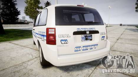 Dodge Grand Caravan [ELS] Liberty County Sheriff для GTA 4 вид сзади слева