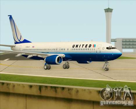 Boeing 737-800 United Airlines для GTA San Andreas вид сзади слева
