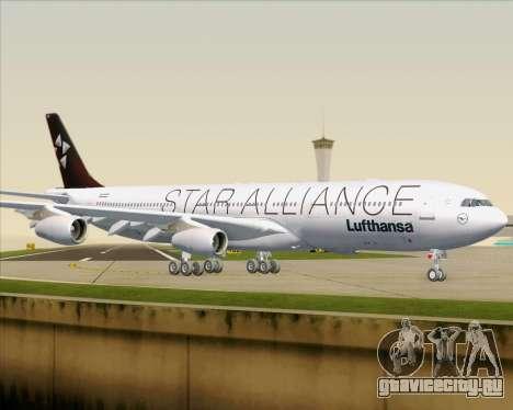 Airbus A340-300 Lufthansa (Star Alliance Livery) для GTA San Andreas вид снизу