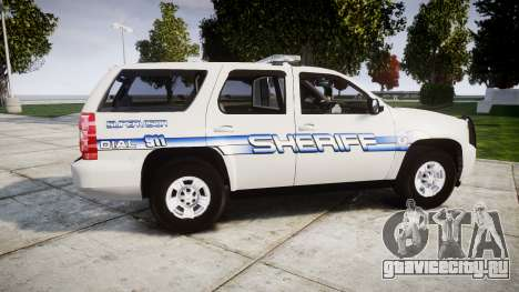 Chevrolet Tahoe [ELS] Liberty County Sheriff для GTA 4 вид слева