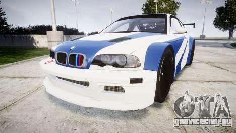 BMW M3 E46 GTR Most Wanted plate Liberty City для GTA 4