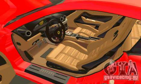 Ferrari 599 Beta v1.1 для GTA San Andreas вид сбоку