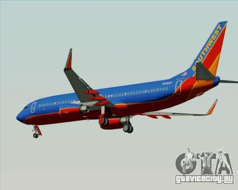 Boeing 737-800 Southwest Airlines для GTA San Andreas вид сзади слева