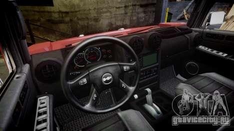 Hummer H2 для GTA 4 вид сзади