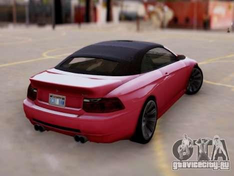 Übermacht Zion Cabrio GTA V для GTA San Andreas вид слева