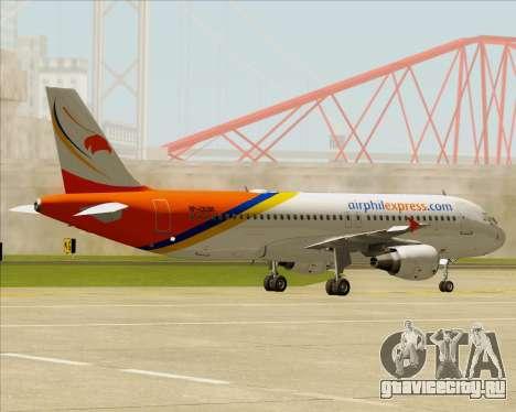 Airbus A320-200 Airphil Express для GTA San Andreas вид сзади
