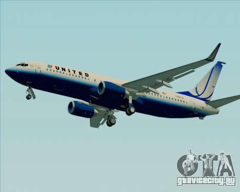 Boeing 737-800 United Airlines для GTA San Andreas вид сзади