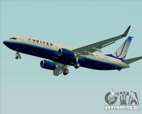 Boeing 737-800 United Airlines для GTA San Andreas вид сзади