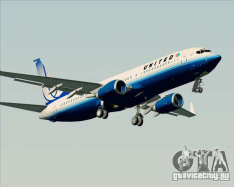 Boeing 737-800 United Airlines для GTA San Andreas вид изнутри