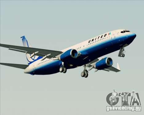 Boeing 737-800 United Airlines для GTA San Andreas вид изнутри