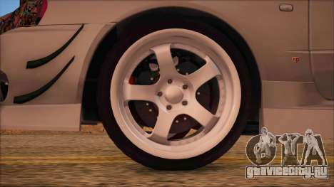 Nissan Skyline R34 GTR V-Spec 2 для GTA San Andreas вид сзади слева