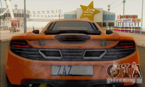 McLaren MP4-12C Gawai v1.4 для GTA San Andreas вид сзади