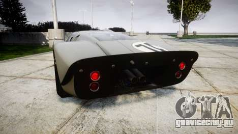 Ford GT40 Mark IV 1967 PJ Arnao Racing 74 для GTA 4 вид сзади слева