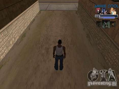 Anime C-HUD для GTA San Andreas второй скриншот
