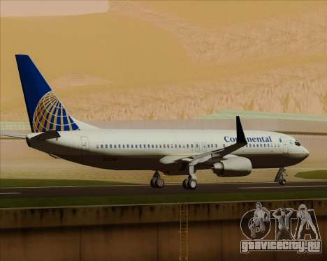 Boeing 737-800 Continental Airlines для GTA San Andreas вид сверху