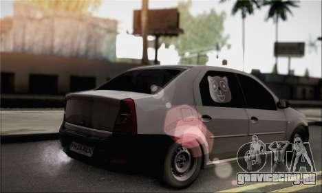 Dacia Logan 2009 для GTA San Andreas вид слева