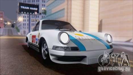 Porsche 911 Carrera 1973 Tunable KIT A для GTA San Andreas вид изнутри
