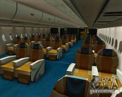 Airbus A380-800 Air Canada для GTA San Andreas колёса