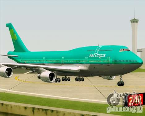 Boeing 747-400 Aer Lingus для GTA San Andreas вид сзади