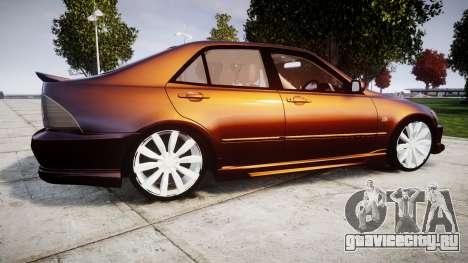 Toyota Altezza для GTA 4 вид слева