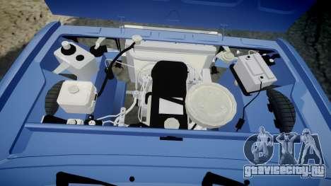 ВАЗ-2107 ламбо для GTA 4 вид изнутри