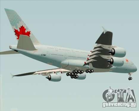 Airbus A380-800 Air Canada для GTA San Andreas вид справа