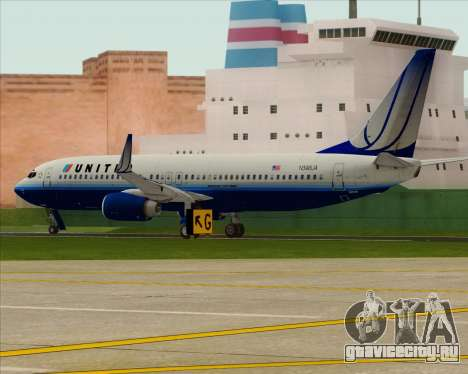 Boeing 737-800 United Airlines для GTA San Andreas вид справа