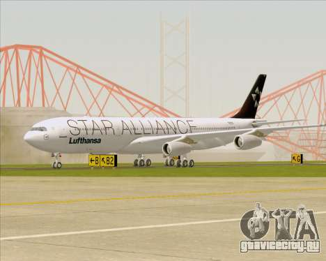 Airbus A340-300 Lufthansa (Star Alliance Livery) для GTA San Andreas вид слева