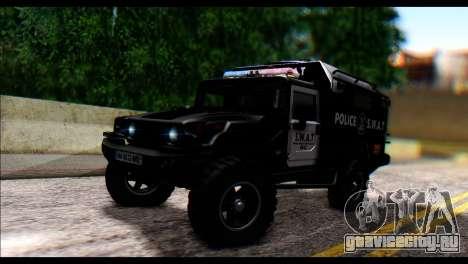SWAT Enforcer для GTA San Andreas