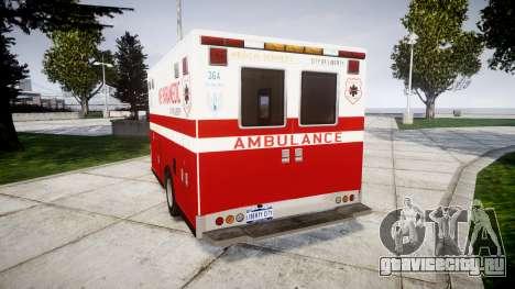 Brute V-240 Ambulance [ELS] для GTA 4 вид сзади слева