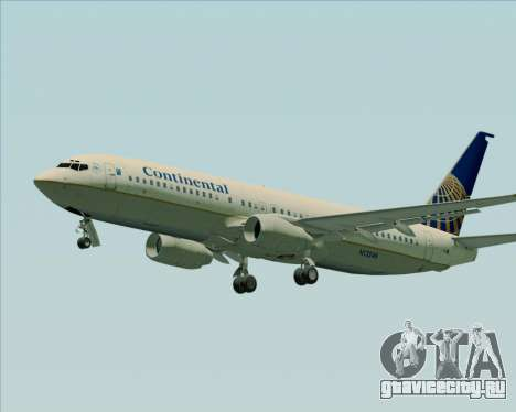 Boeing 737-800 Continental Airlines для GTA San Andreas вид слева