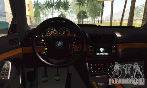BMW М5 Е39 для GTA San Andreas вид сзади слева