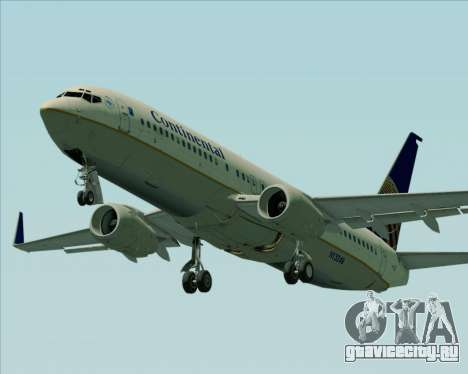 Boeing 737-800 Continental Airlines для GTA San Andreas двигатель