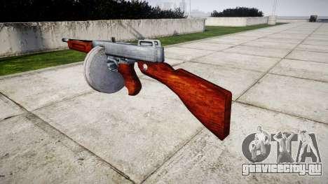Пистолет-пулемёт Thompson M1A1 drum icon2 для GTA 4 второй скриншот
