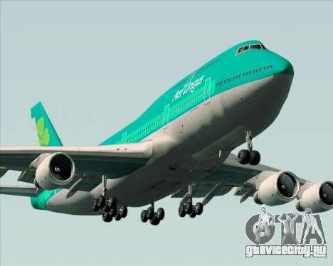 Boeing 747-400 Aer Lingus для GTA San Andreas двигатель
