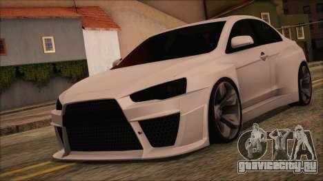 Mitsubishi Lancer Evolution X HD SHDru tuning v1 для GTA San Andreas
