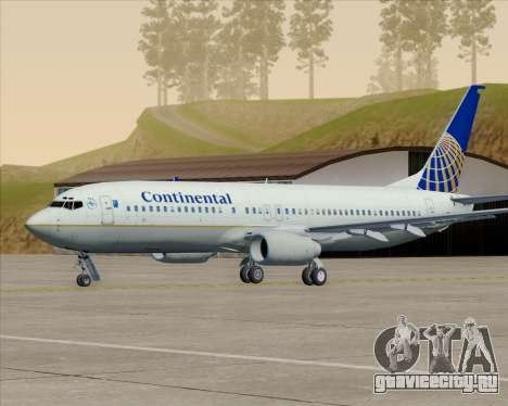 Boeing 737-800 Continental Airlines для GTA San Andreas колёса
