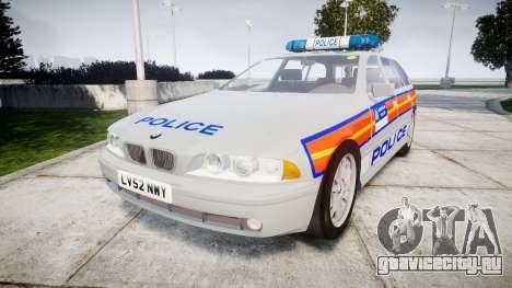 BMW 525i E39 Touring Police [ELS] JSARVV для GTA 4